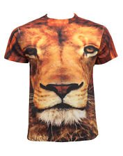 Lion Face Unique One- Of- A-Kind Sublimation Printed Unisex Crew Neck Tshirt Tee