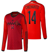 ADIDAS CHICHARITO MEXICO LONG SLEEVE AWAY JERSEY FIFA WORLD CUP BRAZIL 2014.