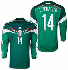 ADIDAS CHICHARITO MEXICO LONG SLEEVE HOME JERSEY FIFA WORLD CUP BRAZIL 2014.