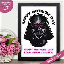 PERSONALISED Star Wars Darth Vader Mothers Day Gift Print - Mothers Day Cards