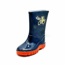 Blue / red with yellow digger Wellies Wellingtons Boots Boys
