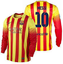 NIKE FC BARCELONA LIONEL MESSI LONG SLEEVE AWAY JERSEY 2013/14
