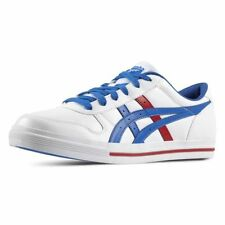 ASICS Onitsuka Tiger Aaron White Blue Womens Mens Casual Trainers Sneakers Shoes