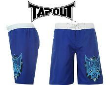TAPOUT Kids Boys Junior MMA Sports Casual Shorts BLUE WHITE Sizes 9 10 11 12 13