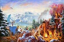"Thomas Kinkade Ice Age 24"" x 36"" Limited Edition SN Canvas Framed"