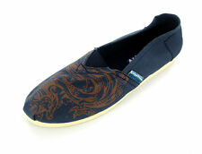 "MENS SPOT ON NAVY DRAGON PRINT ESPADRILLES ""A1073"""