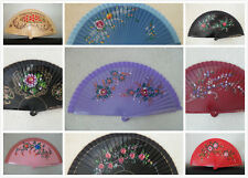 New Wood Spanish Flamenco Vintage Wooden Folding Hand Fan Hand Painted