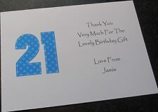 Personalised Birthday Party Invitations/Thank You Cards ANY AGE 18th 21st 30th