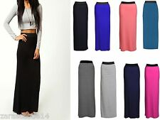 LADIES WOMEN'S STRETCHY GYPSY SKIRT JERSEY LONG MAXI BODYCON SKIRT SIZE 8-26
