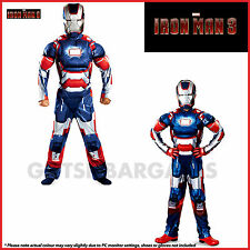 MARVEL AVENGERS SUPER HEROES IRON-MAN 3 PATRIOT MUSCLE CHEST BOYS COSTUME S/M