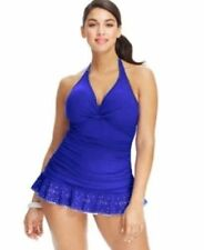 NWT Profile Gottex Ruched Tummy Control Swimdress One-Piece Swimsuit Plus Size
