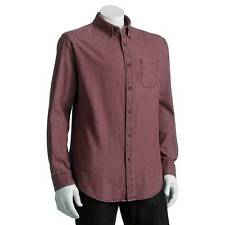 NWT $45-Mens Croft & Barrow Green Or Red Long Sleeve Button Front Shirt-XLT  2XB