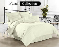 New Collection of Ivory Solid/Striped 1000TC 100% Egyptian Cotton Bedding Item