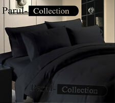 600-800-1000-1200TC Black Solid 1000TC 100% Egyptian Cotton US Bedding All Size