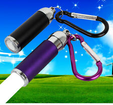 Portable Mini LED Flashlight Torch Light for Hiking Climbing Carabiner Keychain