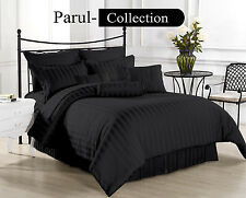 600-800-1000-1200TC Black Stripe 1000TC 100% Egyptian Cotton US Bedding All Size