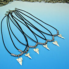 """WHOLESALE 12 Pc Lots White Shark Tooth Teeth 16"""" 18"""" 22"""" Necklaces #7010"""