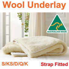 Aus Made Luxury 100% Pure Wool Woolen Underlay/Underblanket-ALL SIZE AVAILABLE