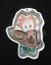Wilton RUDY REINDEER Cake Pan Rudolph Christmas Holiday 2000 # 2105-180 Retired