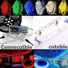 5M 5050 RGB 300 Leds SMD LED Strip Light Flexible DC 12V IR Controller Adapter