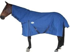 CARIBU 20oz 100% CANVAS Kersey Blanket Lined Combo Horse Rug, Strong, Blue