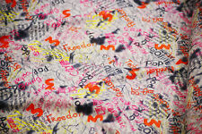 Craft-Dress-Dance-Fabric-PATTERNED GRAFFITI LYCRA-In Metres-SEWING BEE