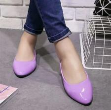 Fashion Womens Flats Heels Pointed Toe Patent Leather Candy Colour Spring Shoes