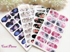 Nail Art Stunning Nail Wraps Flowers Full Cover Polish Water Decal Sticker Tips