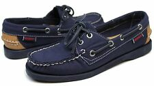 Women's Sebago™ Docksides Spinnaker Navy/Tan Synthetic Boatshoes Sz