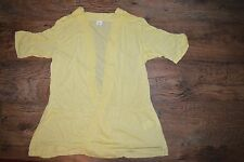 Yellow Summer Waterfall Cardigan Short Ruched Sleeves Sizes 14 16 18 NEW