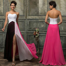 GK Gradient Colorful Ombre Chiffon Prom Dress Evening Dress Strapless Party Gown