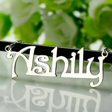 Personalized Harrington Font Name Necklaces Silver Nameplate Necklace