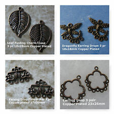 Copper Plated Earring Findings Jewelry Bead Art Supply Clasps Links