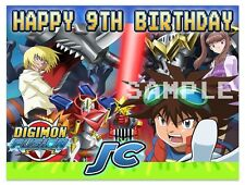 Digimon Icing Birthday Edible Image Cake Topper Personalized Frosting SheetS