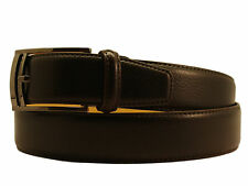 New Men's Marco Valentino Italy Dressy Belt Brown Leather Gunmetal Buckle