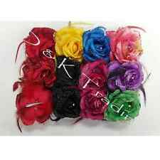 6pcs Hairpin Hair Silk Flower Feathers Claw Clamp Jaw Clip Bridal Wedding Party