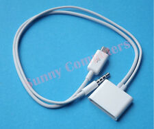 Micro USB to 30Pin 30P Dock Cable Adapter Cord With Audio For iPod Nano 7th Gen
