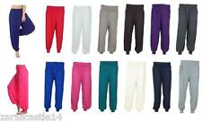 Ladies Women's Full Length Plain Harem Ali Baba Baggy Trouser Pants Size 8-26