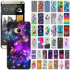 For HTC One M7 Phone Various Image Design Protector Hard Back Case Cover Skin
