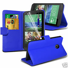 PU Leather Wallet Flip Case Cover & LCD Film & Stylus Pen For HTC Desire 320
