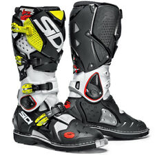 Sidi NEW 2016 Mx Crossfire 2 Stitched Sole White Black Yellow Motocross Boots