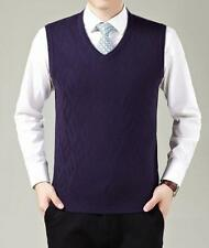 Mens Wool Wasitcoat Vest Woollen Sweater Pull-over Vest Knitwear   W*