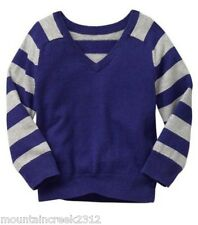 BABY GAP Boys Sweater Size 12 18 months Striped Sleeve Pullover Blue New