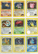 ULTRA RARE - POKEMON - Gym Heroes - HOLO  & RARE CARDS