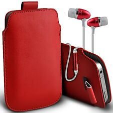 PU Leather Pull Tab Flip Case Cover & Handsfree For Vodafone Smart First 6