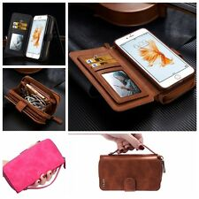 Retro Wallet Magnetic Leather Case Card Slots Pouch Stand Purse F iPhone Samsung