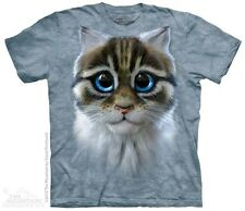 Blue Eyed Kitten Face Shirt, Cat Gifts, Mountain Brand, In Stock, Small - 5X