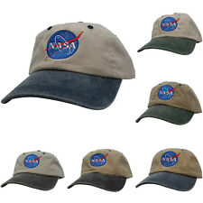 NASA Insignia Embroidered 2-Tone Pigment Dyed Cotton Cap - 5 Colors FREE SHIP