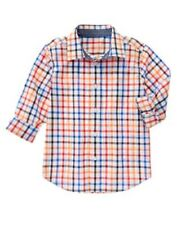 GYMBOREE EVERYDAY ALL STAR MULTI COLOR CHECK WOVEN L/S SHIRT 4 7 8 NWT