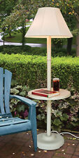 Outdoor patio lamp light with table & lampshade -Deck, pool, yard, weather proof
